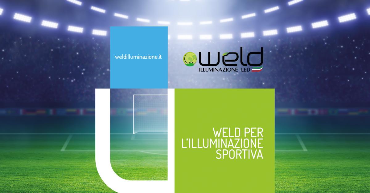 Vittoria dietro l'angolo con illuminazione sportiva weld