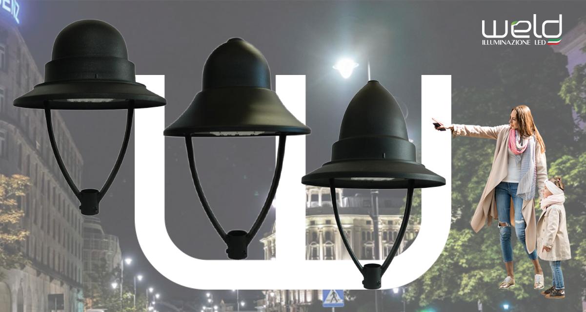 PEGASO LRP - lanterne rotonde LED su palo